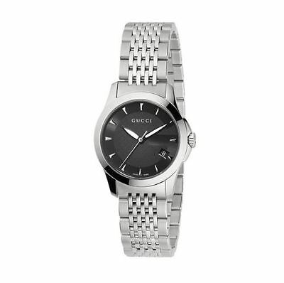 a02f63c90bc New Gucci G-Timeless Black Dial Stainless Steel YA126502 Ladies Watch •  409.00