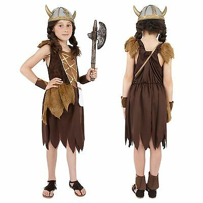 £13.61 • Buy Girls Viking Childrens Costume Child Book Week Fancy Dress Outfit Saxon Warrior