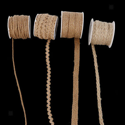Rustic 5M Jute Burlap Braided String Hessian Ribbon Rope For Wedding Party Craft • 3.60£