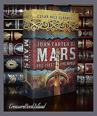$19.74 • Buy John Carter Of Mars 1st Five Novels By Edgar Burroughs New Hardcover Edition