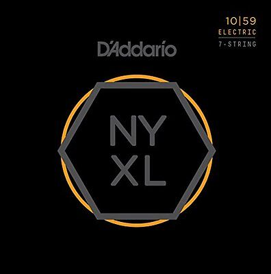 AU20.58 • Buy D'Addario Nickel Wound 7-String Electric Guitar Strings, Regular Light, 10-59