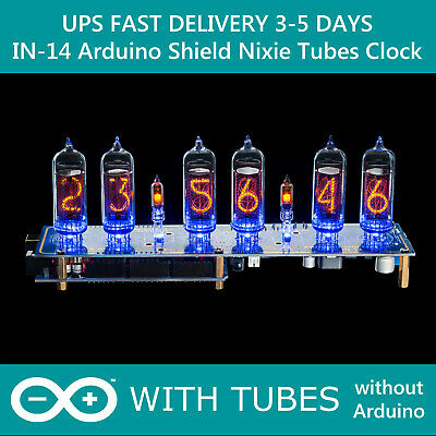 £92 • Buy Nixie Tube Clock IN-14 Arduino Shield NCS314 WITH TUBES FAST DELIVERY 3-5 Days