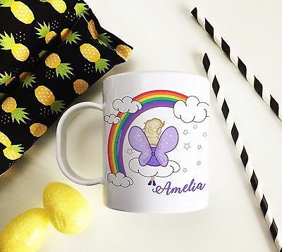 Personalised Fairy Plastic Mug Children's Birthday Gift Juice Cup Any Name • 10.99£