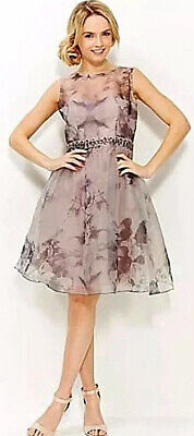 £19.99 • Buy New Women's Little Mistress Organza Embellished Prom Dress Floral Party UK 14