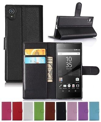 AU5.69 • Buy Wallet Leather Flip Card Case Pouch Cover For Sony Xperia XA1 Genuine AuSeller