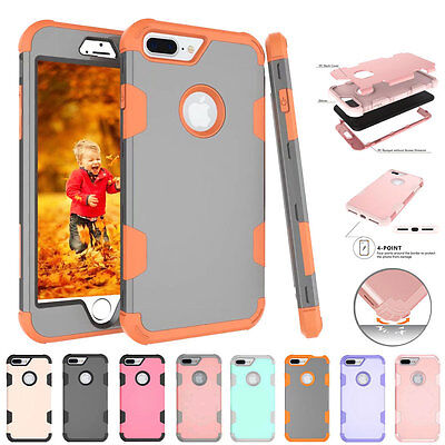 AU5.66 • Buy Hot Shockproof 3in1 Hybird Hard Back Rubber PC Cover Case For IPhone 7 Plus Skin