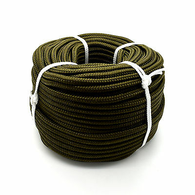 Khaki Green Polypropylene Rope Military Army Colours Cord Survival Camping Mi6 • 109.98£