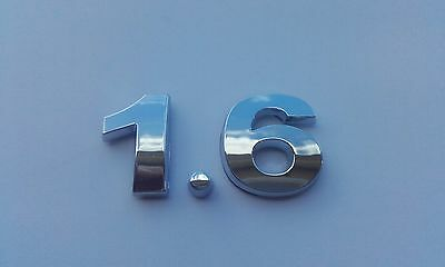 £3.99 • Buy New Chrome 3D Self-adhesive Car Letters Number Badge Emblem Sticker Spelling 1.6