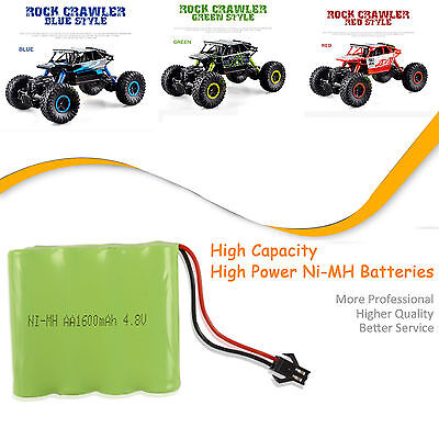 AU9.99 • Buy 4.8V 1500mAH NI-MH Rechargeable Battery Pack For 1/18 2.4G Radio Remote Control