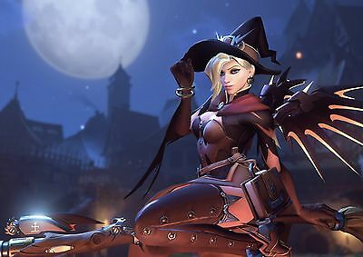 $ CDN28.82 • Buy Witch Mercy Overwatch Large Poster Art Print - A0 A1 A2 A3 A4