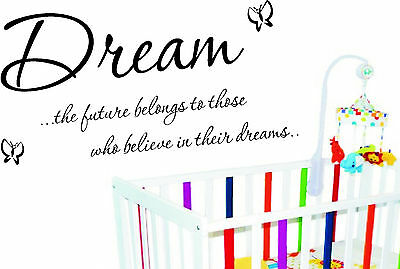 Dream Baby Cot Childrens Wall Art Sticker Diy Home  • 13.99£