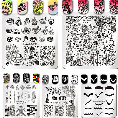 $0.99 • Buy Born Pretty Nail Art Stamping Plates Image Stamp Stencils Templates