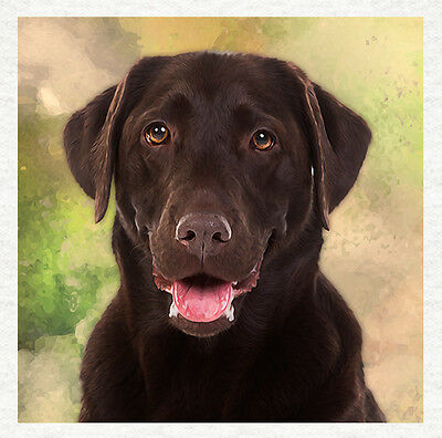 Dog - Chocolate Labrador Fabric Craft Panels In 100% Cotton Or Polyester • 8.45£