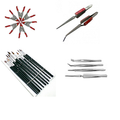 £10.99 • Buy Precision Craft Hobby Tool Kit Tweezers Clamps Brushes Airfix Model Makers UK