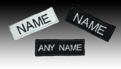 SMALL Embroidered Name Tag Patch SEW-ON Or IRON-ON 1.5 X 5 Cm • 3.50£