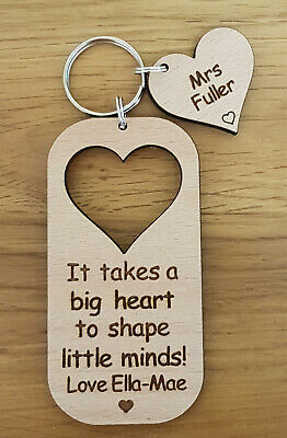 £5.99 • Buy Personalised Keyring School Gift For Teacher Gifts Nursery End Of Year Christmas