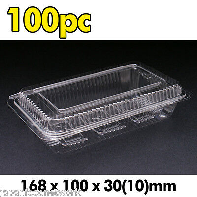 AU8.70 • Buy 100x Plastic Disposable Lunch Container Sushi Box Clear Take Away H-2-B BPA Free