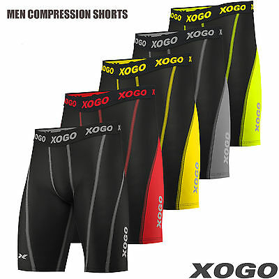 XOGO Mens Compression Shorts Base Layer Briefs Pants Running Gym Fitness • 12.49£