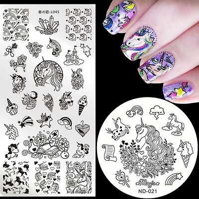 $1.99 • Buy Nail Art Stamping Plates Image Stamp Template Stainless Steel  Tools