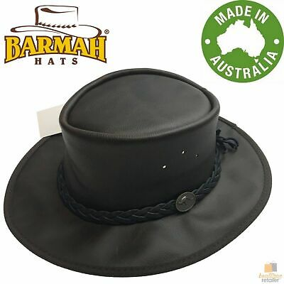 $ CDN42.05 • Buy BARMAH Squashy Oiled Cattle Hide Leather Hat Outback Brim Foldable BOMBER New