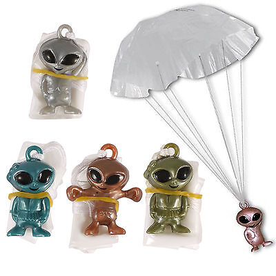 1 6 12 24 Space Alien Parachuting Toys Boys Girl Loot Birthday Party Bag Fillers • 1.95£