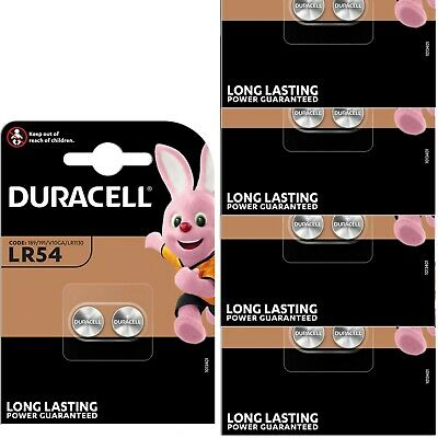AU12.42 • Buy 10x Durcell LR54 1.5Volt Alkaline Battery 189 V10GA GP189 L1131 LR1130 A120 AG10