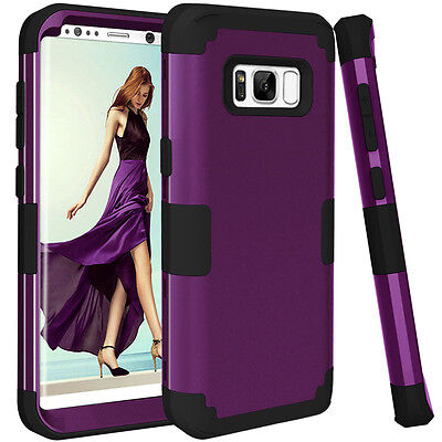 $ CDN5.03 • Buy Hybrid Shockproof Silicone Protective Hard Case Cover For Samsung Galaxy S8 Plus
