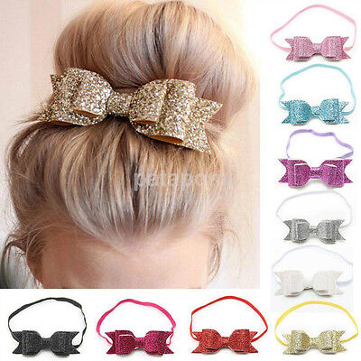 $0.87 • Buy Cute Baby Girls Flower Hair Accessories Hairband Bow Elastic Band Headband New