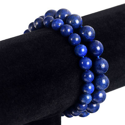$5.79 • Buy Lapis Lazuli Handmade Round Bead Bracelet US Seller Fast Delivery High
