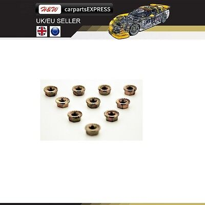 Vauxhall Hex M8 Cooper Self Locking Cars Exhaust Manifold Nuts Head Stud • 3.45£