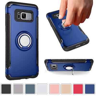 $ CDN4.65 • Buy For Samsung Galaxy S8 Plus Ring Stand Case Shockproof Hybrid  Protect Hard Cover