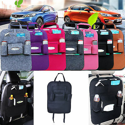$8.16 • Buy Auto Car Storage Multi-Use Pocket Organizer Car Seat Back Bag Accessories Black