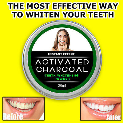 AU8.98 • Buy Teeth Whitening Stain Remover Powder Bad Breath Activated Coconut Shell Charcoal