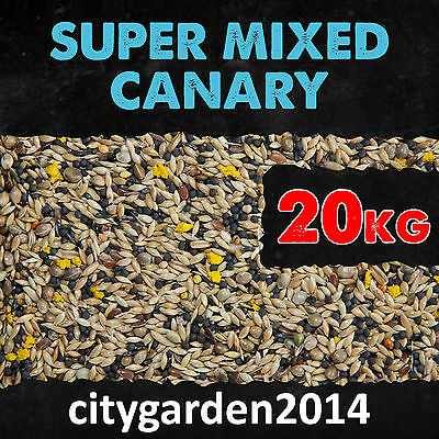 £29.99 • Buy 20kg Super Mixed Canary Seed Food With Yellow Egg Biscuit And Niger Seed