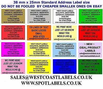 £3.49 • Buy Personalised Address / Sender / Craft  Labels Self Adhesive Stickers COLOURED