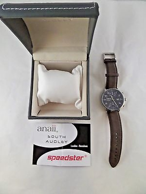 NIB Speedster Anaii South Audley Brown Strap Wrist Watch SA802  • 35.20£