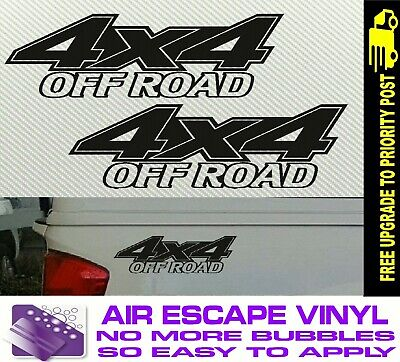 AU6.90 • Buy 4x4 OFF ROAD 4WD Decals Car Stickers PAIR 200mm