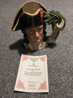 Royal Doulton Character Jug Captain Bligh D6967 Large Size First Quality • 85£