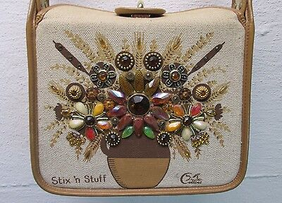 $95.66 • Buy THE ORIGINAL ENID COLLINS OF TEXAS  STIX 'N STUFF  1960's BEADED CANVAS PURSE