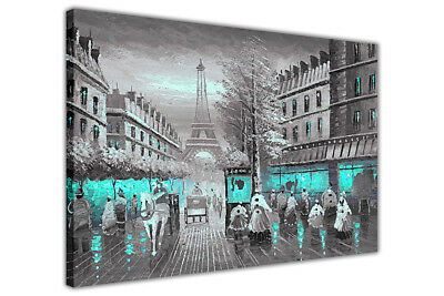 £29.99 • Buy Beautiful Paris Café Oil Painting Re-print On Framed Canvas Wall Art Picture