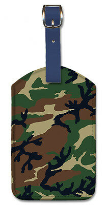 £8.53 • Buy Leatherette Travel Luggage Tag Baggage Label - Camouflage Army Forest