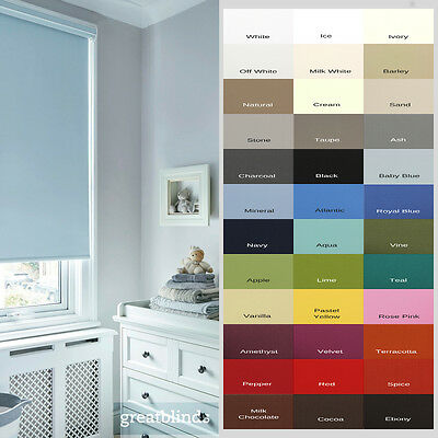 £23.75 • Buy Made To Measure Child Safe Thermal Blackout Roller Blinds - Up To 300cm Width*