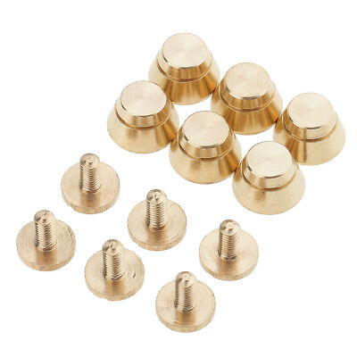 6pcs Brass Spike Hollow Studs Rivets Press Pins DIY Leather Crafts For Bag • 3.42£
