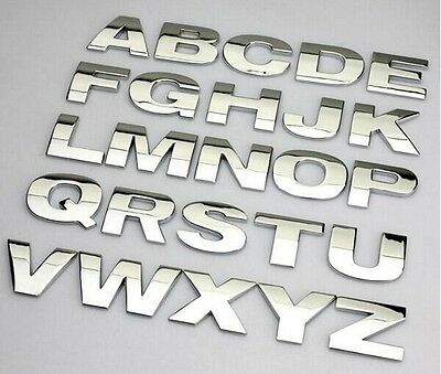 £1.49 • Buy New Chrome 3D Self-adhesive Letter Number Car Badge Door Sticker For Home & Auto