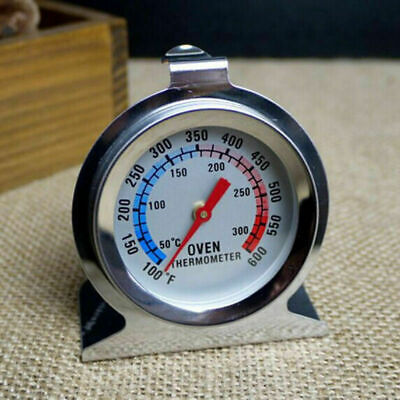 Stainless Steel Analog Oven Dial Thermometer Kitchen Cooking Baking 50c - 300c • 5.95£