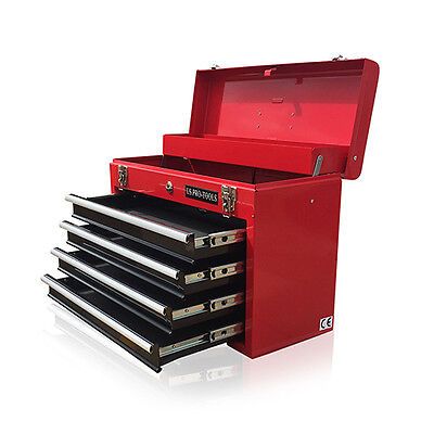 View Details 380 US Pro Tools Portable Toolbox Tool Chest Box Cabinet Garage 4 Drawers   • 39.99£