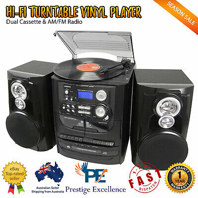 AU289.90 • Buy Vinyl Record Player Hi-Fi Turntable 3 CD System Stereo Cassette Recorder Players