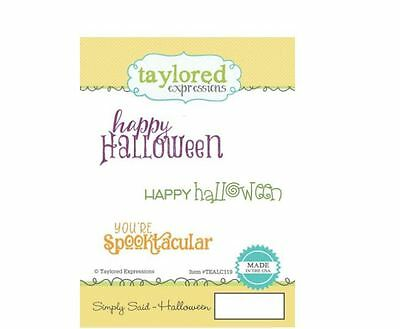 Taylored Expressions Rubber Stamp Set ~ SIMPLY SAID - HALLOWEEN   ~TEALC119 • 10.79$