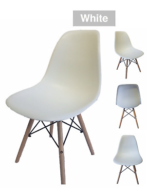 £24.95 • Buy Retro Eiffel Dining Chair Designer Plastic Dining Office Lounge Chair White