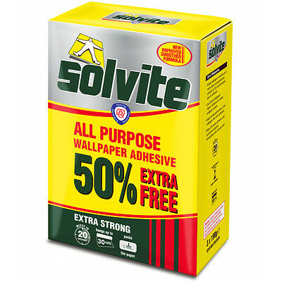 Solvite Extra Strong All Purpose Wallpaper Adhesive Glue Paste - Up To 30 Rolls • 10.95£